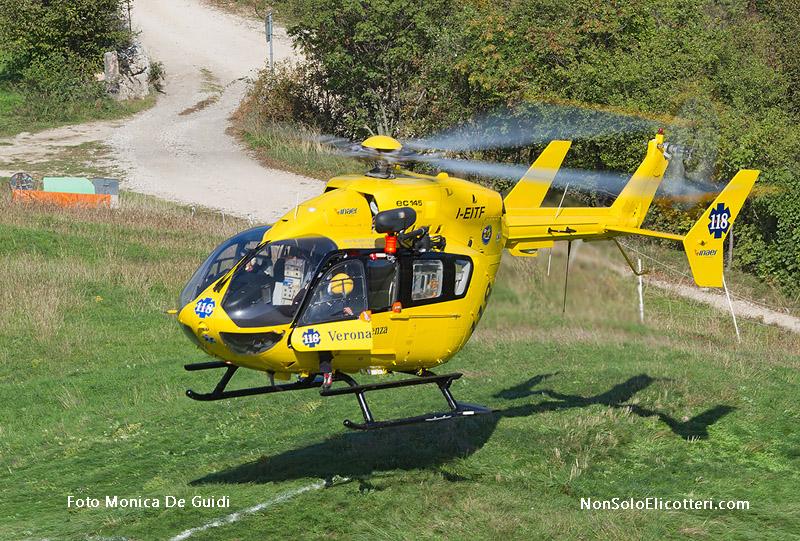 Elicottero 5 Pale : Ec verona emergenza in azione